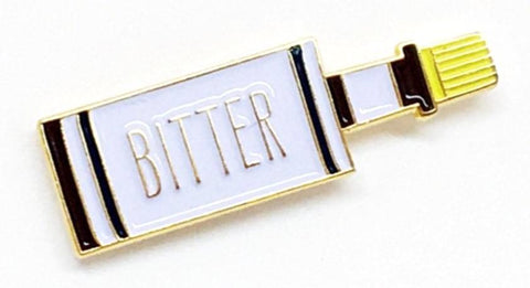 Bitter Enamel Pin in Bottle Design