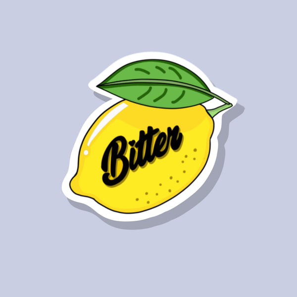 Bitter Lemon Glossy Vinyl Sticker