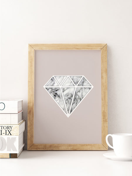 Diamond Marble Art Print