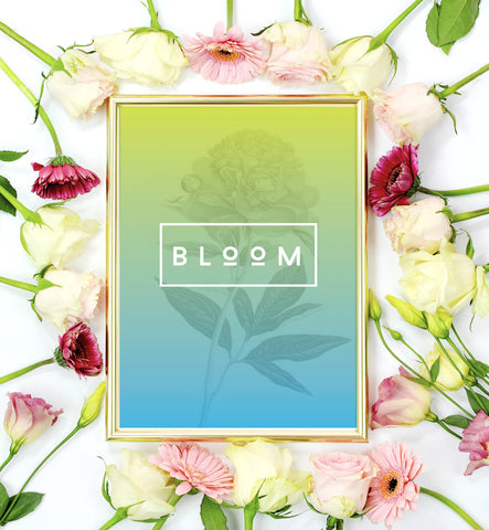 Bloom Nature Typography Mini Art Print