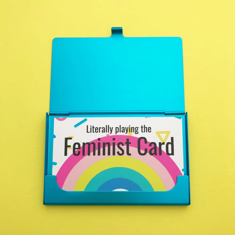 Feminist Cards - Card Holder with 8 Cards