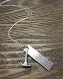 The Betty Collection: Smash the Patriarchy Necklace in Mixed Metals or all Silver