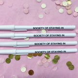 Society of Staying In Pen in White
