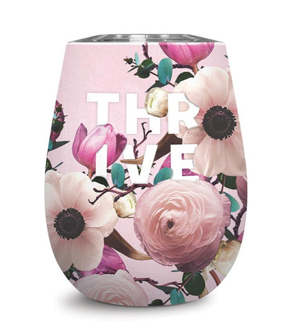 Thrive Stemless Insulated Unbreakable Stainless Steel Wine Glass