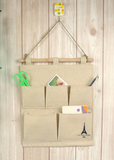 Eiffel Tower Linen Wall Organizer