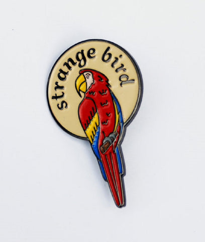 The Betty Collection: Strange Bird Colorful Parrot Enamel Lapel Pin