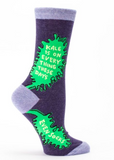 Kale Is On Everything Women's Crew Socks, Hipster/Nerdy/Geeky/Trendy, Funny Novelty Socks with Cool Design, Bold/Crazy/Unique Quirky Dress Socks