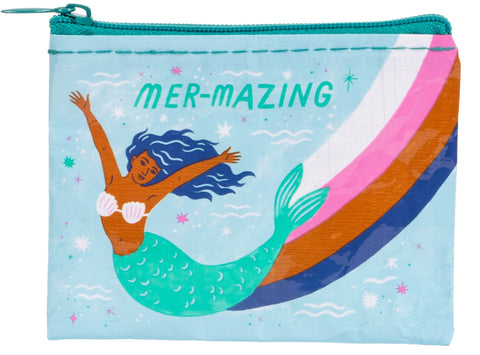Mer-Mazing Mermaid Recycled Material Cool Small/Mini Zip Coin/Change Purse/Bag/Pouch/Wallet