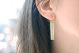 The Betty Collection: Shut Up Earrings in Gold or Silver
