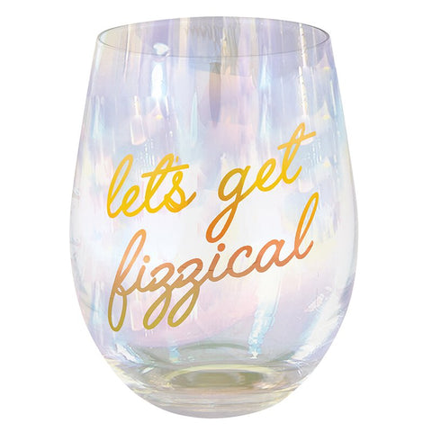 17 oz Let's Get Fizzical Stemless Wine Glass Set of 4