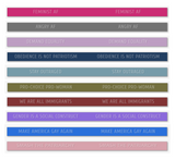STAY OUTRAGED / SMASH THE PATRIARCHY Silicone Bracelets (10 choices)
