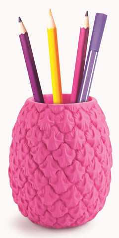 Totally Tropical Pen Pot in Pink Pineapple Shape