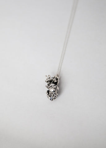 The Betty Collection: Anatomical Heart Necklace in Silver