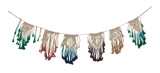 Macramé Dip Dye Garland in Multi Colored Ombre Boho Decor