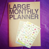 Large Monthly Planner + Cat Calendar Stickers