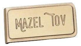 Mazel Tov Handmade Engraved Solid Brass Money Clip