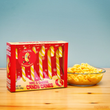 Mac and Cheese Candy Canes | Gift Box of 6 Funny Mac & Cheese Flavored Candy Canes