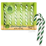 Kale Candy Canes | Gift Box of 6 Funny Kale Flavored Candy Canes