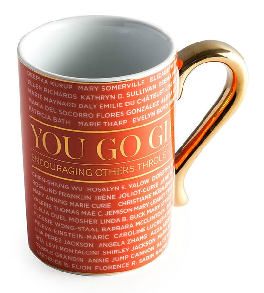Accomplished Women in STEM Science, Technology, Engineering, & Math Porcelain and Gold Coffee Mug