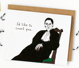 "Ruth Bader Ginsburg ""I'd Like to Court You"" Card"