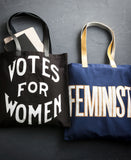 Feminist Large Tote with Gold Leather Handles