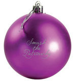 24 Ornament Megapack of Smash the Patriarchy Holiday / Christmas Ornaments in Fuchsia and Silver