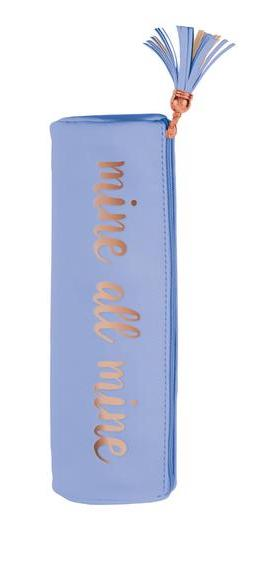 Mine All Mine Round Pouch / Vibrator Cozy with Tassel in Periwinkle