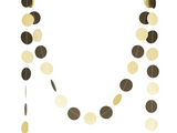 Gold Glitter and Black Dots Party Bunting Banner
