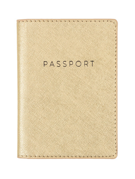 Gold Shimmer Passport Case