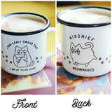 Mischief Meownaged / Pawlemly Swear Mug in Harry Potter Cat Pun