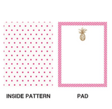 Be Like A Pineapple Pocket Note in Pink and Gold