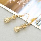 Gold Pineapple Dangle Earrings