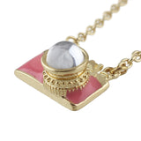 Wanderlust Camera Necklace in Pink and Gold