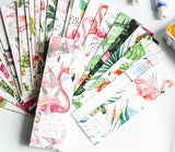 30-Pack of Summer Flamingo Bookmarks