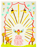 I Want a Fucking Pizza Screen-Printed Dish Towel