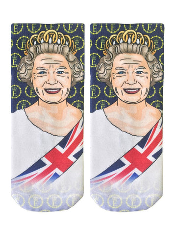 Her Majesty Queen Elizabeth Ankle Socks