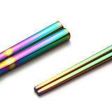 Holographic Rainbow Chopsticks in Stainless Steel