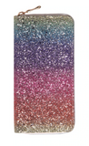 Rainbow Glitter Zip Wallet