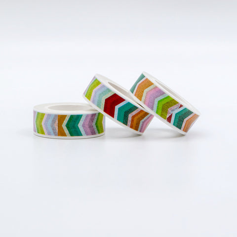 Rainbow Chevron Washi Tape