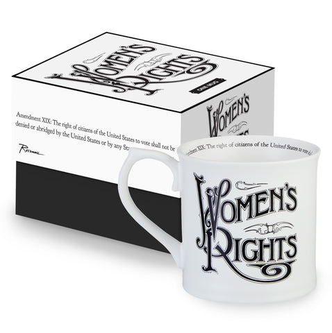 19th Amendment Mug in Porcelain Featuring Original Art From the Women's Suffrage Movement