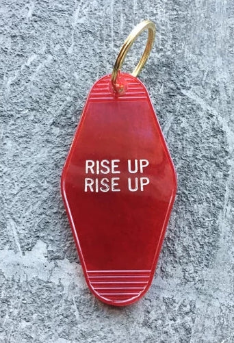 Rise Up Translucent Keychain in Red