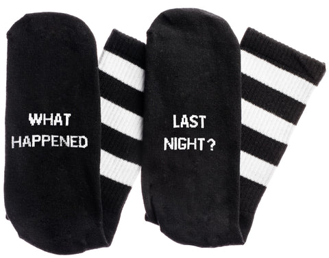 What Happened...Last Night? Socks in Black and White