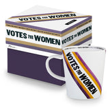 Votes For Women Sash Mug in Porcelain | Featuring Original Art from the Women's Suffrage Movement, 1908