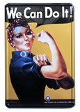 We Can Do It Vintage Style Metal Rosie the Riveter Sign