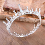 Moonlight Ice Queen Crown Tiara in Opal and Champagne Gold or Silver (2 Options)