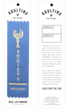 Society Participant Prize Award Ribbon on Gift Card