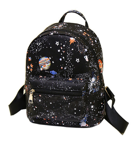 Solar System Mini Backpack in Black Planets