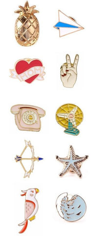 Enamel Cluster Pins - Spring Collection (30 options!)