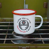 I Love You To The Deathstar And Back Enamel Camping Coffee Mug