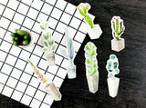 30-Pack of Subtle Succulent Bookmarks